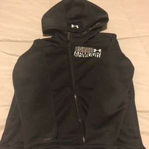 Youth under armour zip hoodie